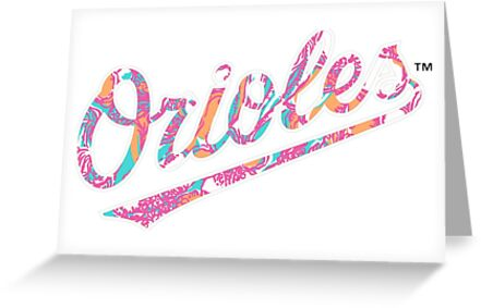 Orioles Lilly Pulitzer Print by mirmaids