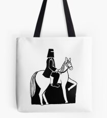 Ned Kelly Riding His Horse Tote Bag