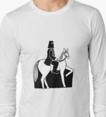 Ned Kelly Riding His Horse Long Sleeve T-Shirt