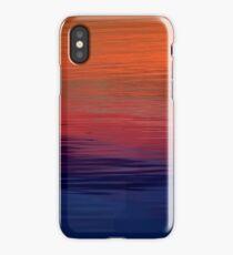 Ocean Sunset, orange, red, purple, black iPhone Case/Skin
