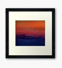 Ocean Sunset, orange, red, purple, black Framed Print