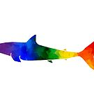 Rainbow Great White Shark by moietymouse