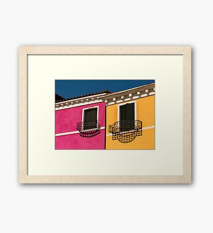 Colours of Burano Italy Framed Print