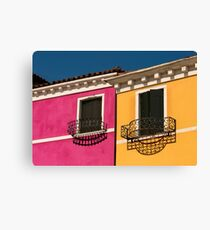 Colours of Burano Italy Canvas Print