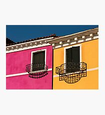 Colours of Burano Italy Photographic Print