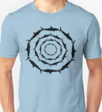 Spiralling Sharks (Black) Unisex T-Shirt