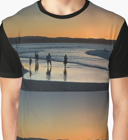 Rainbow Bay sun down Graphic T-Shirt