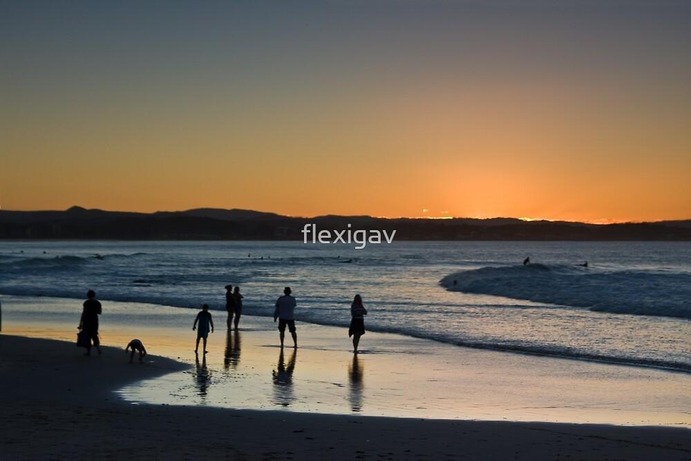 Rainbow Bay sun down by flexigav