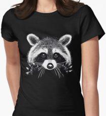 Little raccoon buddy Women's Fitted T-Shirt