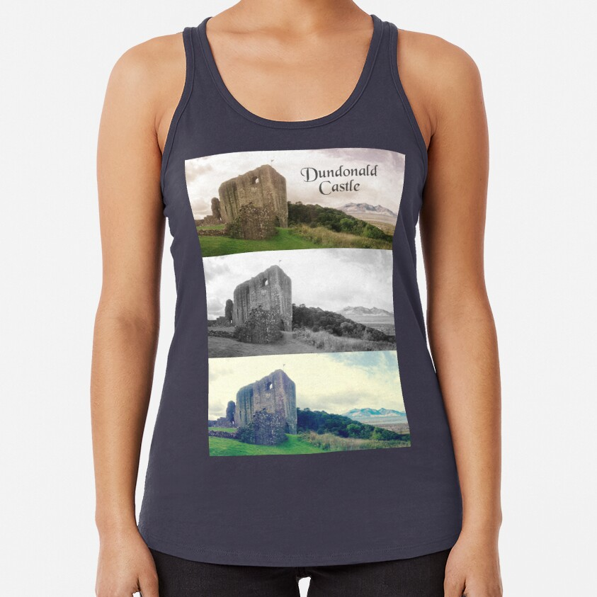 Dundonald Castle, Ayrshire, Scotland Racerback Tank Top