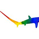 Rainbow Thresher Shark by moietymouse