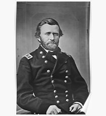 Portrait of Civil War General Ulysses S. Grant Poster