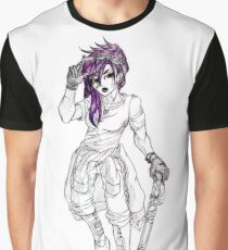 Pink Hair Girl Graphic T-Shirt