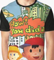 Smash 64 Ness Congratulations Screen Graphic T-Shirt