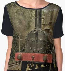 "GWR Broad Gauge Locomotive ""Firefly"" Women's Chiffon Top"