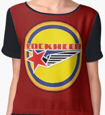 Lockheed Vintage Air craft USA Women's Chiffon Top