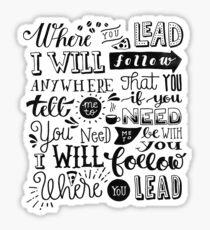 where you lead {gilmore girls} Sticker