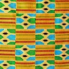 Colours of Africa (25) of a series of African Colours, KENTE of the Ashanti and Ewe in Ghana by Remo Kurka
