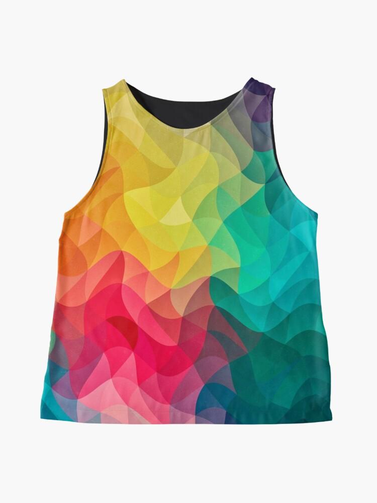 Alternative Ansicht von Abstract Color Wave Flash Ärmelloses Top