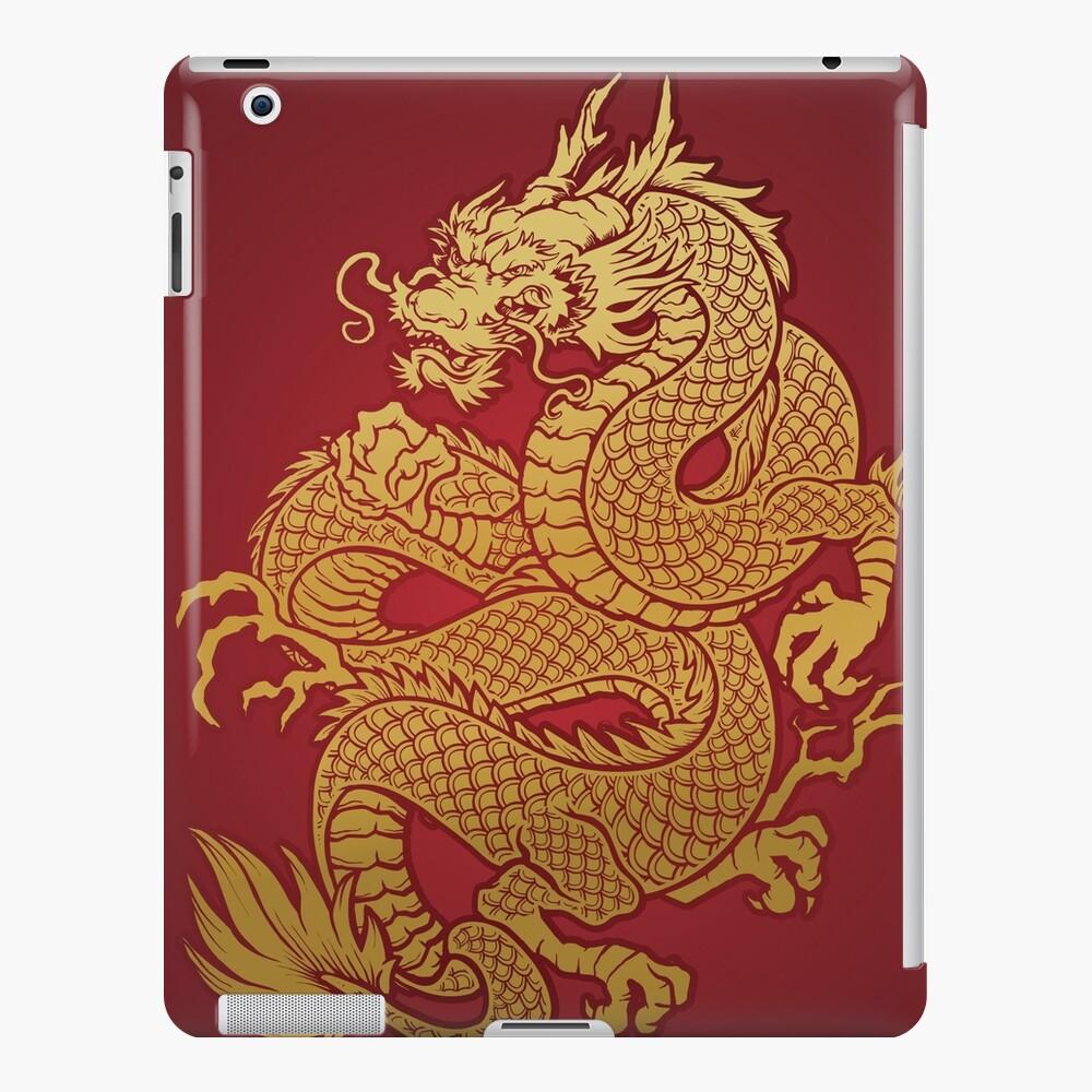 Chinesischer goldener Drache iPad-Hülle & Skin
