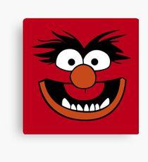 Animal Muppet (Orange Lips&Nose) Canvas Print