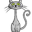 Grey cat by Richard Eijkenbroek