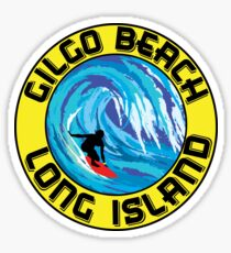 Surfing GILGO BEACH LONG ISLAND NEW YORK Surf Surfboard Waves Sticker