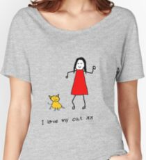 I LOVE MY CAT Women's Relaxed Fit T-Shirt