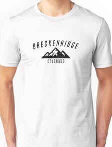 BRECKENRIDGE COLORADO Mountain Skiing Ski Snowboard Snowboarding Unisex T-Shirt