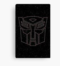 Stars Transformers Autobots Canvas Print