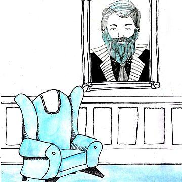 Portrait of Blue Beard by sofiaarvanius