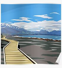 Kaikoura, New Zealand by Ira Mitchell-Kirk Poster