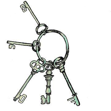 Keys Illustration by sofiaarvanius