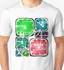 Fresh Square Citruses on White Unisex T-Shirt