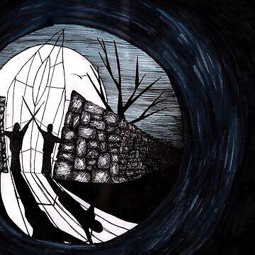 Dark Night Illustration by sofiaarvanius