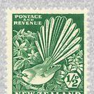 Fantail - New Zealand stamp by jennyjeffries