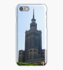 Stalinist and American architecture in Warsaw, Poland iPhone Case/Skin