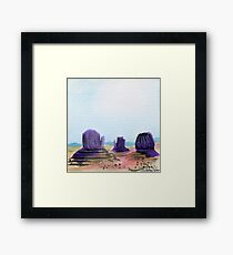 Monument Valley at Noon Framed Print