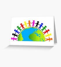 Kids/People United On Earth Greeting Card
