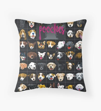 pooches Throw Pillow