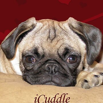 Cute iCuddle Pug Puppy Art, iPhone & iPad Cases by Shana1065