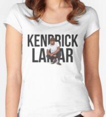 Kendrick Lamar - Text Portrait Women's Fitted Scoop T-Shirt