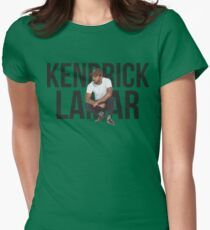 Kendrick Lamar - Text Portrait Womens Fitted T-Shirt