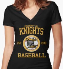 Gotham City Knights Baseball Women's Fitted V-Neck T-Shirt