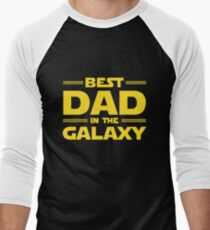 Best Dad in The Galaxy Men's Baseball ¾ T-Shirt