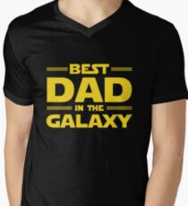 Best Dad in The Galaxy Men's V-Neck T-Shirt