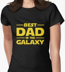 Best Dad in The Galaxy Women's Fitted T-Shirt