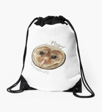 Pearl the Barn Owl Drawstring Bag