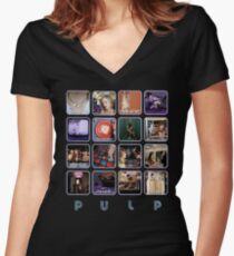 Pulp - Disco 2000 Women's Fitted V-Neck T-Shirt