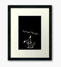 Mimikyu (Black) Framed Print